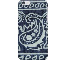 Blue & White Bandana Print iPhone Case/Skin