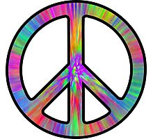 Peace Sign Trippy Photographic Print