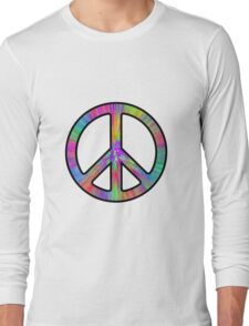 Peace Sign Trippy Long Sleeve T-Shirt