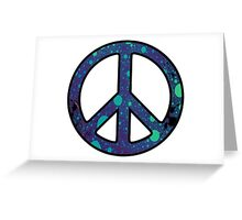 Peace Sign Trippy Greeting Card