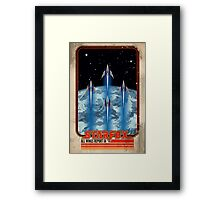 Retro Star Fox Poster Framed Print
