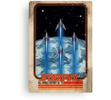 Retro Star Fox Poster Canvas Print