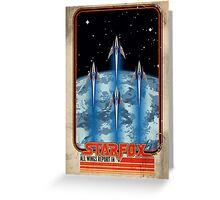Retro Star Fox Poster Greeting Card