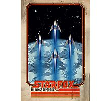 Retro Star Fox Poster Photographic Print