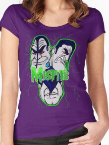 the misfits caricature  Women's Fitted Scoop T-Shirt