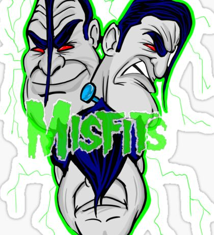 the misfits caricature  Sticker