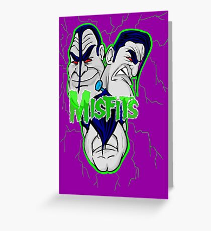 the misfits caricature  Greeting Card