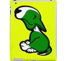 Innocent English Bull Terrier Puppy Green  iPad Case/Skin
