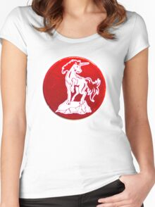 POGS Unicorn Women's Fitted Scoop T-Shirt