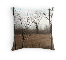 Bare Trees of November Throw Pillow