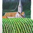 Normandy church by Carole Russell