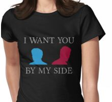 By My Side Womens Fitted T-Shirt