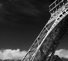 Eiffel Tower in Black and White by Stormswept