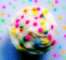 Rainbow Brite Star Sprinkles Cupcake by shesxmagic