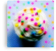 Rainbow Brite Star Sprinkles Cupcake Canvas Print