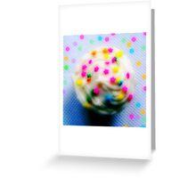 Rainbow Brite Star Sprinkles Cupcake Greeting Card