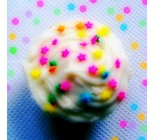 Rainbow Brite Star Sprinkles Cupcake Photographic Print
