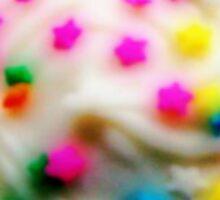 Rainbow Brite Star Sprinkles Cupcake Sticker