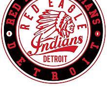 Red Eagle Indians Detroit Ice Hockey Logo by huliodoyle