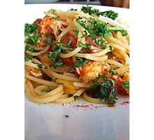 Spaghetti Marinara  Photographic Print