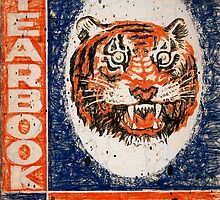 Distressed Detroit Tiger Yearbook 1964 by John Farr