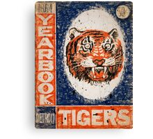 Distressed Detroit Tiger Yearbook 1964 Canvas Print