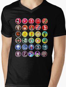 POGS Milk Cap Collage Mens V-Neck T-Shirt
