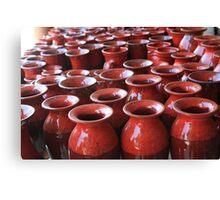 Red Pots Canvas Print