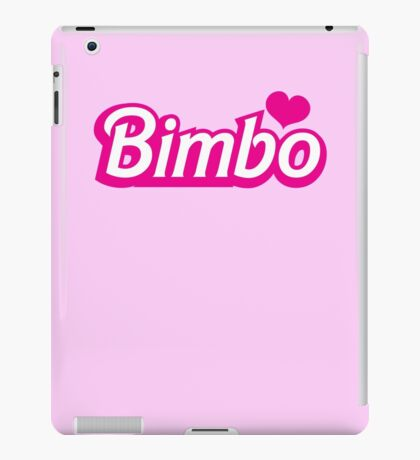 Bimbo in cute little dolly doll font iPad Case/Skin
