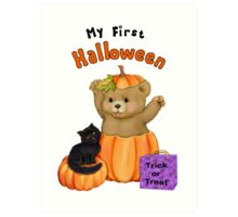 First Halloween Teddybear Art Print