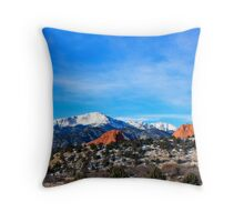 The Front Range Card Throw Pillow
