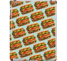 Turkey Bacon Avocado Sandwich Pattern iPad Case/Skin