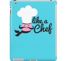 Like a chef incredibly cute cooking design iPad Case/Skin