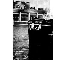 Docklands Barge Photographic Print