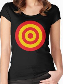 Yellow and RED target Women's Fitted Scoop T-Shirt