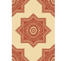 The Red Moroccan Pattern Photographic Print