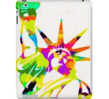 Statue Of Liberty Colorful Abstract iPad Case/Skin