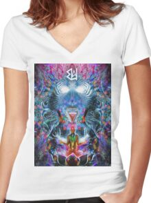 7 Chakra Underachiever Women's Fitted V-Neck T-Shirt