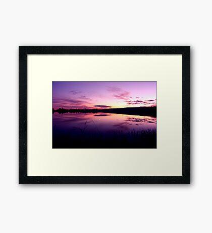 Sundown on the lake ... Framed Print