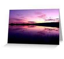 Sundown on the lake ... Greeting Card