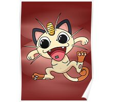 Meowth On Acid Poster