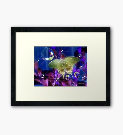 Glowing Wings Framed Print