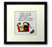 Timey Wimey Detector, Doctor Who Framed Print