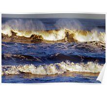 waves at Ocean Beach Poster