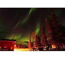 Green Aurora Borealis Photographic Print