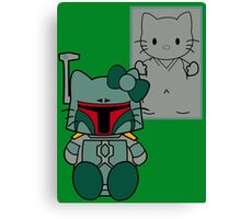 SOLO and FETT KITTY Canvas Print