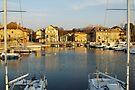 Nernier harbour by Patrick Morand