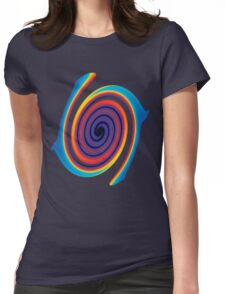 Striped Abstract Swirl Womens Fitted T-Shirt