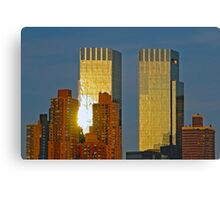 time warner towers at sunset Canvas Print