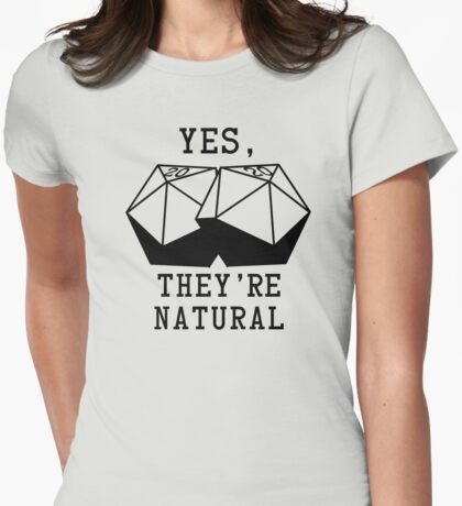 Natural D20s Womens Fitted T-Shirt